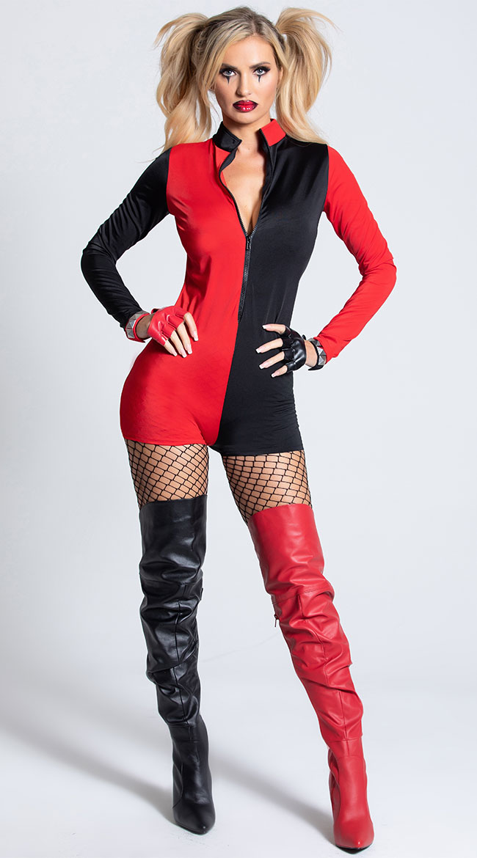 Sexy Harlequin Romper by Leg Avenue