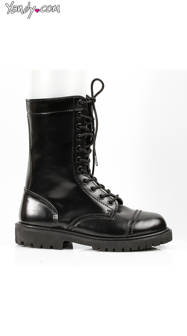 Sexy Lace Up Combat Boots by Ellie Shoes