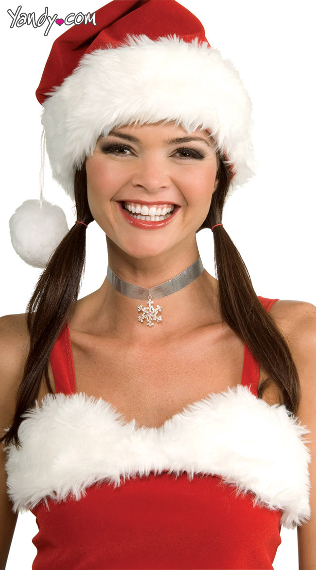 Silver Choker With Snowflake by Rubies Costumes / Snowflake Necklace