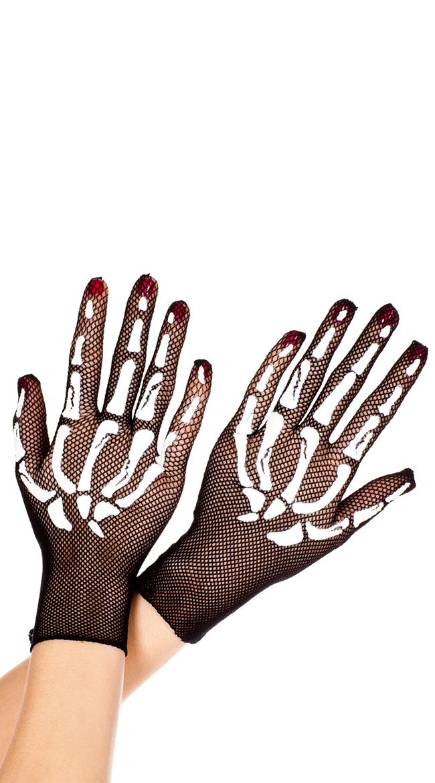 Skeleton Gloves by Music Legs