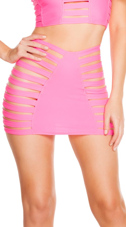 Solid Strappy Skirt by J Valentine