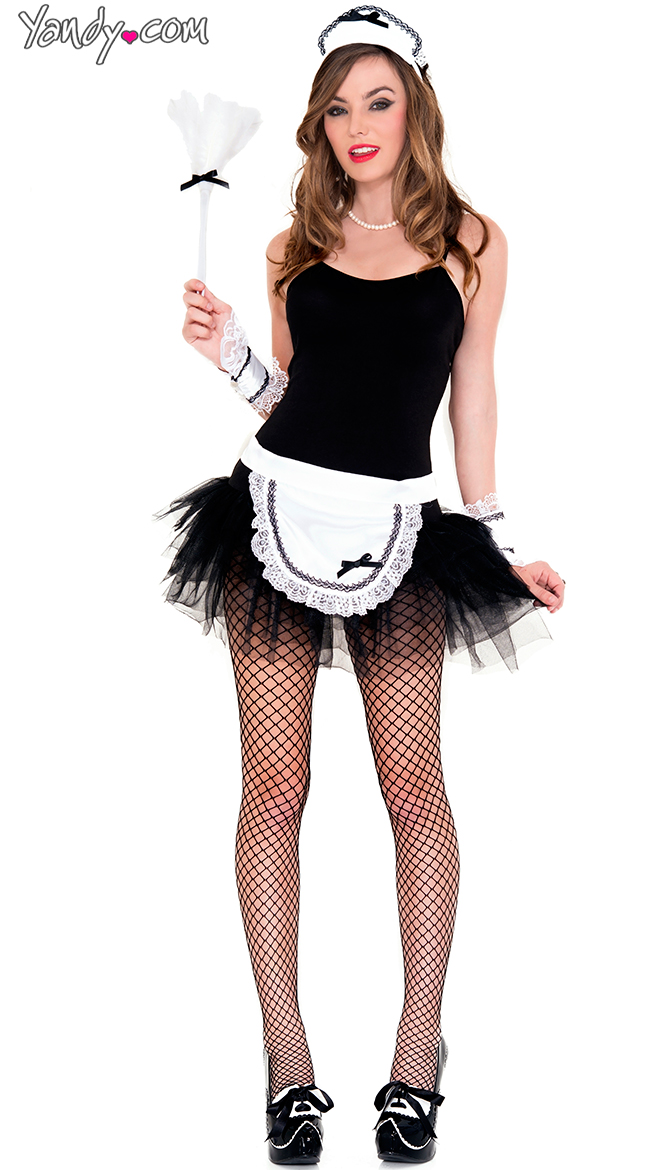 Sophisticated Maid Costume Kit by Music Legs / French Maid Accessories