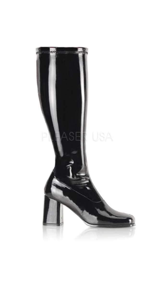 Stretch Wide GoGo Boots by Pleaser