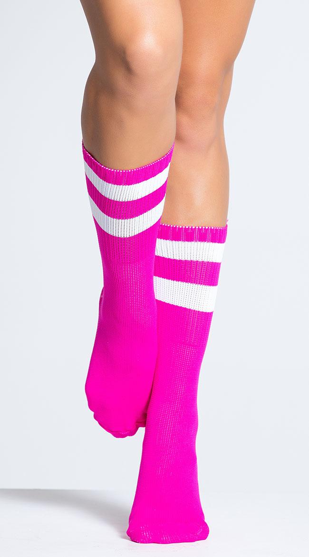 Striped Ankle Socks by Music Legs
