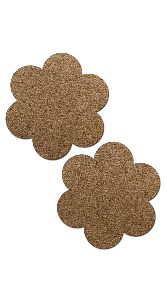Suede Flower Reusable Pasties by Pastease