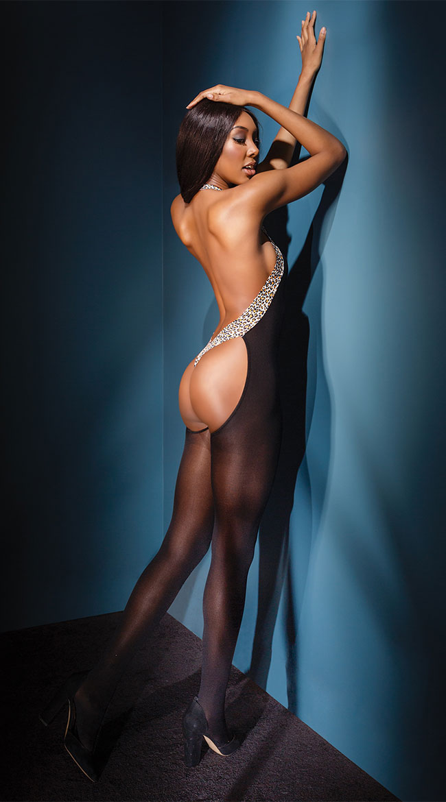 Sultry Leopard Bodystocking by Coquette