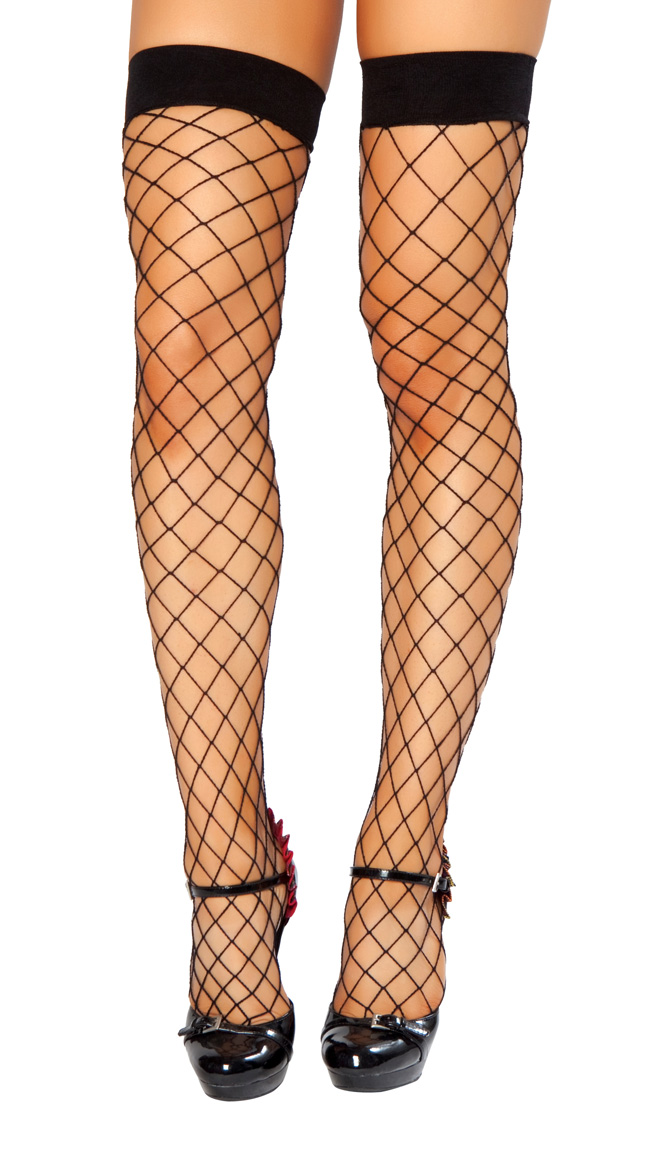 Thigh High Open Fishnet Stocking by Roma