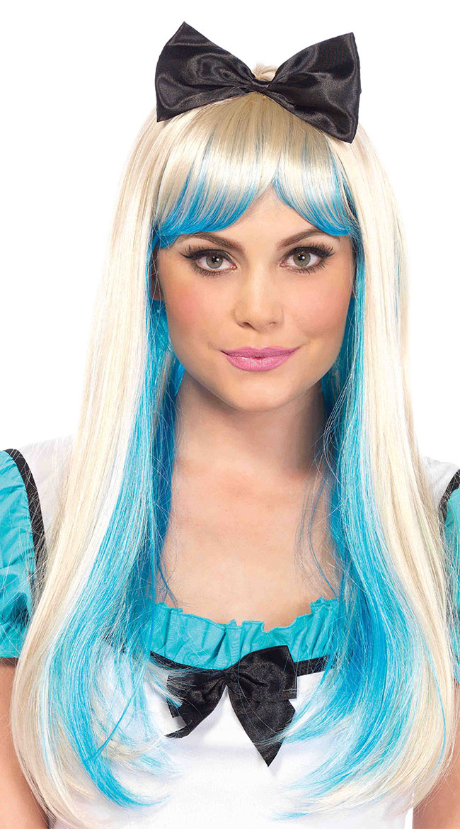 Two-Tone Alice Wig with Bow by Leg Avenue