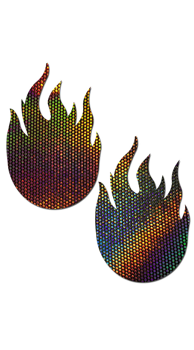 Velvet Flame Nipple Pasties by Pastease - sexy lingerie
