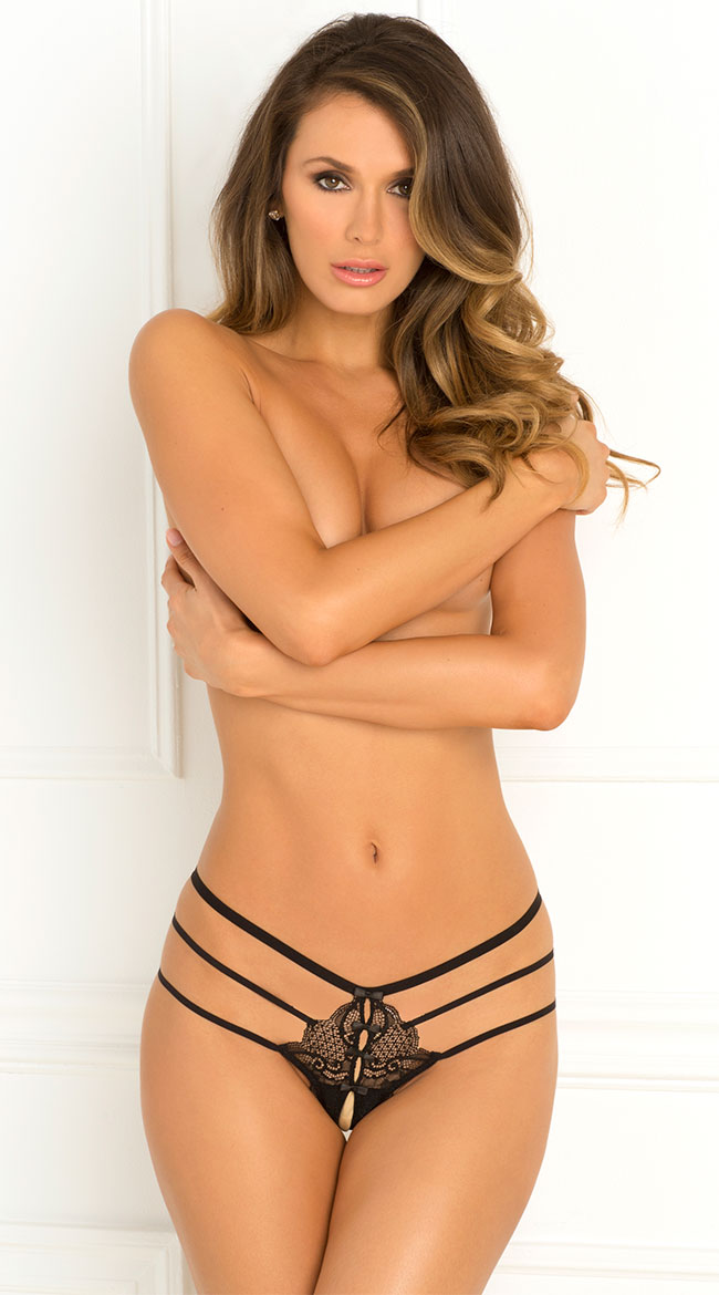 Wanted and Wild Crotchless Panty by Rene Rofe