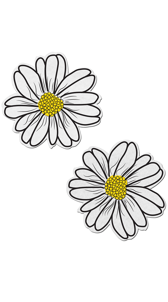 White And Yellow Flower Pasties by Pastease