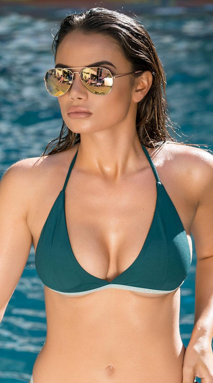 Yandy Glittering Green Bikini Top by Espiral Yandy
