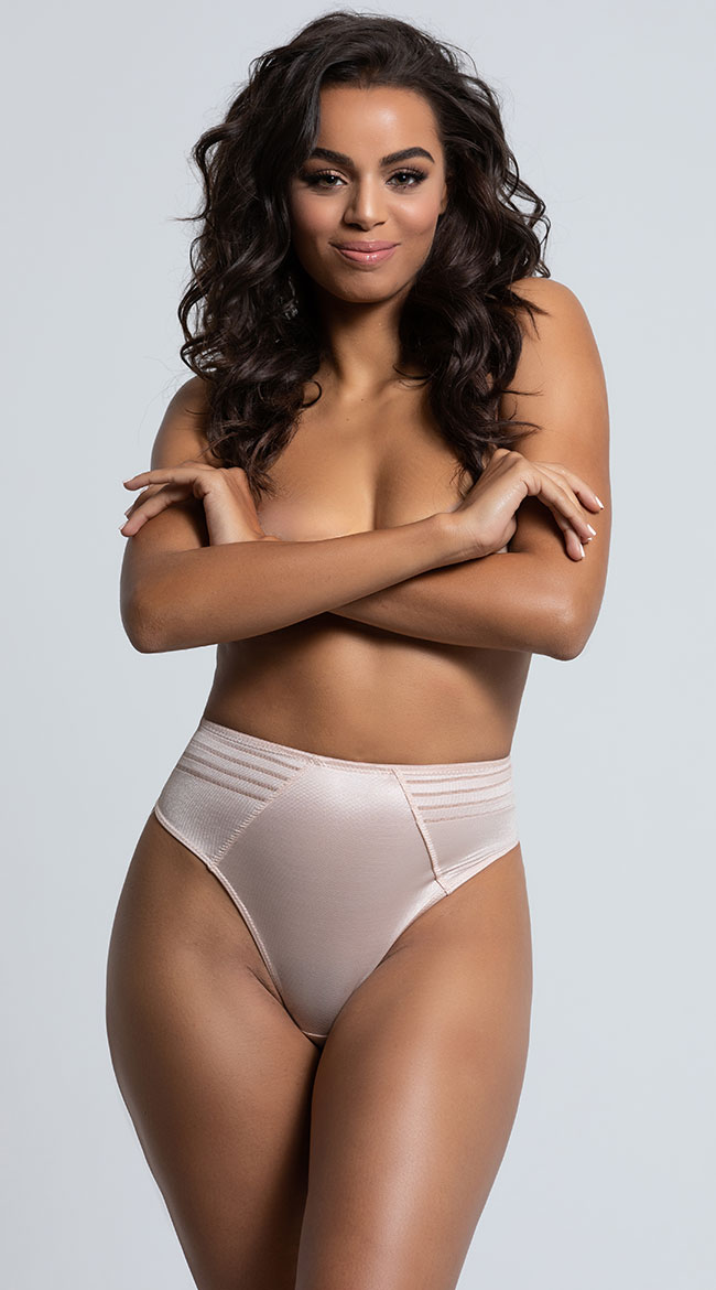 Yandy High Waisted Power Stretch Thong by Yandy STM