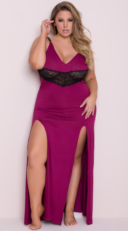 Yandy Plus Size Draping Lounge Dress by Yandy STM