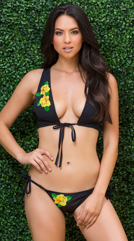 Yandy Rosy Gold String Bikini Bottom by Espiral Yandy