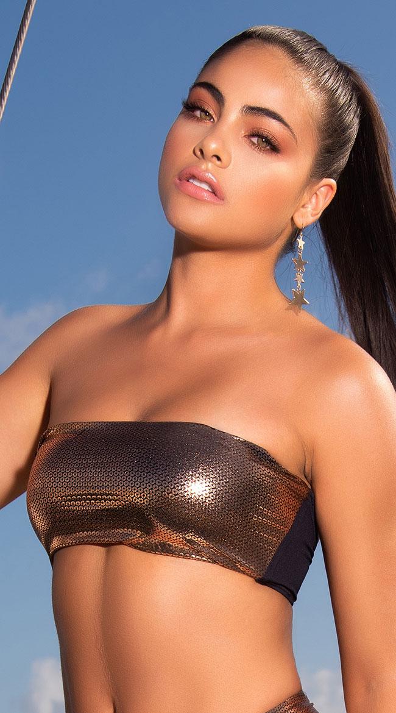Yandy The Mariah Metallic Bikini Top by Espiral Yandy